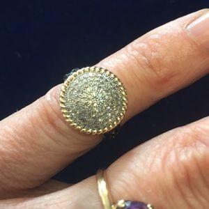 14k diamond Pave ring
